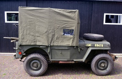 usmc amb jeep canvas top 6
