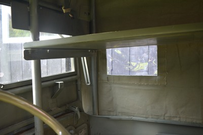 usmc amb jeep canvas top interior